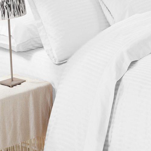 Elite Jacquard Sheet Set White